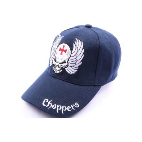 Casquette Choppers avec tête et croix marine