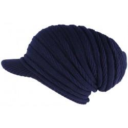 Bonnet Casquette Rasta Bleu Marine Kift Nyls Création BONNETS Nyls Création