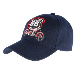 Casquette Baseball Route 66 Bleu marine Nyls creation