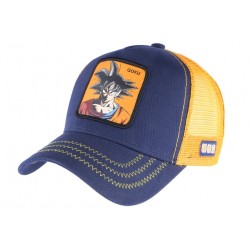 Casquette Goku Dragon Ball Z bleu et orange Collabs Capslab