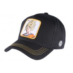 Casquette baseball Goku Dragon Ball Z noire orange Collabs