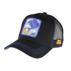 Casquette Road Runner Bip Bip bleue et noire Bip Bip Collabs