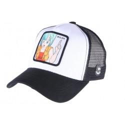 Casquette Bulma Dragon Ball Z blanche et noire Collabs