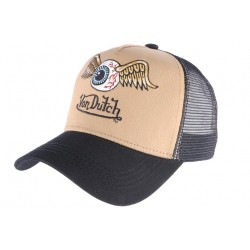 Casquette Von Dutch marron Flying Eyeball Art