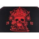Casquette Von Dutch noir et rouge crane Roa 2992