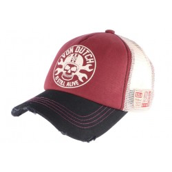 Casquette Von Dutch rouge Rag Is Still Alive