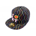 Casquette fitted Noir avec rayure