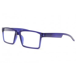 Lunettes lecture originales bleues rectangles Xya Lunettes Loupes New Time