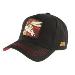 Casquette Coyote Vil rouge et noire Bip Bip Capslab