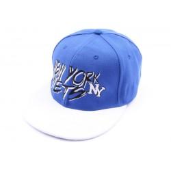 Casquette fitted NY Bleue et blanche CASQUETTES Hip Hop Honour