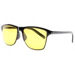 Lunettes de conduite de nuit jaunes et noires Auty LUNETTES SOLEIL Eye Wear