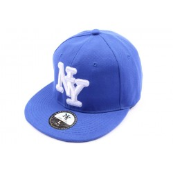 Casquette fitted Bleue CASQUETTES Hip Hop Honour