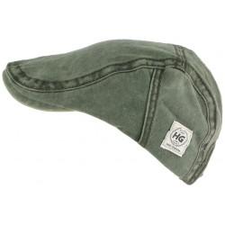 Casquette plate verte tendance en coton homme et femme Elyk