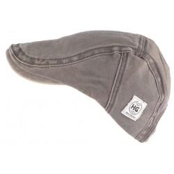 Casquette plate grise tendance en coton homme et femme Elyk