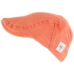 Casquette plate orange tendance en coton homme et femme Elyk