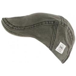 Casquette plate gris anthracite tendance en coton homme et femme Elyk