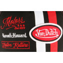 Casquette Von Dutch noire et rouge Mc Queen Motors Custom