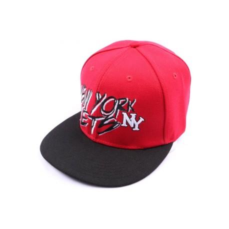 Casquette fitted rouge et visière noire CASQUETTES Hip Hop Honour