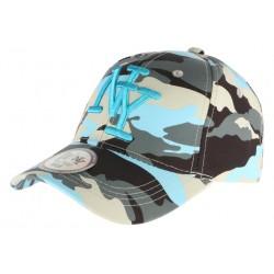 Casquette NY militaire bleue et grise Aincys CASQUETTES Hip Hop Honour
