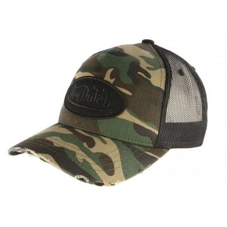 Casquette filet Von Dutch Camouflage Armee Fashion CASQUETTES VON DUTCH