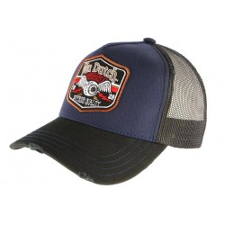 Casquette Von Dutch Bleue et Noire Flying Eyeball Truck CASQUETTES VON DUTCH