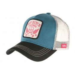Casquette Von Dutch Bleue California GRN Crane Aile Trucker