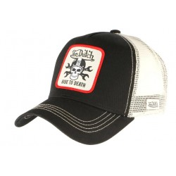 Casquette Von Dutch Noire Ride To Death GRN Crane Motard Trucker