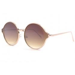 Grandes lunettes soleil rondes dorees fashion Gaxy LUNETTES SOLEIL Eye Wear