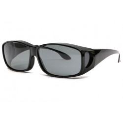 Surlunettes de soleil polarisantes Noires Confort Fyxia LUNETTES SOLEIL Eye Wear