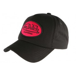 Casquette baseball Von Dutch noire et rouge Custom Jack CASQUETTES VON DUTCH
