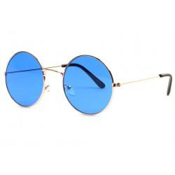 Lunettes soleil rondes bleues dorees Fashion Odala LUNETTES SOLEIL Eye Wear