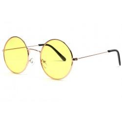 Lunettes soleil rondes jaunes et dorees Fashion Odala LUNETTES SOLEIL Eye Wear