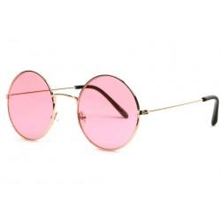 Lunettes soleil rondes roses et dorees Fashion Odala LUNETTES SOLEIL Eye Wear