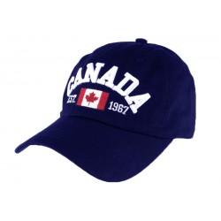 Casquette baseball Canada Bleu Marine en Coton Tendance CASQUETTES Nyls Création