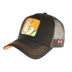 Casquette C16 Dragon Ball Z Noire et Orange Collabs Capslab Baseball C-16
