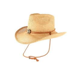 Chapeau Cowboy Country Paille Marron Clair Cashy