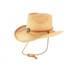Chapeau Cowboy Country Paille Marron Clair Cashy CHAPEAUX Léon montane