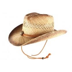Chapeau Cowboy Country Paille Marron Vintage Cheyney CHAPEAUX Léon montane