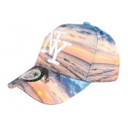 Casquette baseball bleue et orange NY Tropical Night