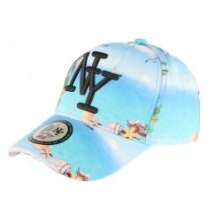 Casquette baseball bleue et turquoise NY Tropic Spirit CASQUETTES Hip Hop Honour