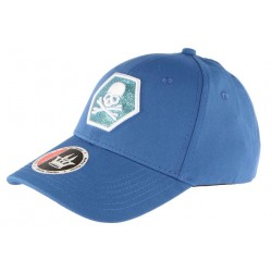Casquette Baseball Bleue Tete de Mort Fashion Hexkyl