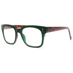 Grosses lunettes lecture fantaisies vertes et marron retro Brya Lunettes Loupes Proloupe