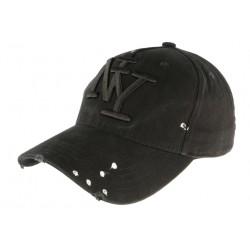 Casquette Baseball noire design createur fashion et couture NY Pointy CASQUETTES Hip Hop Honour