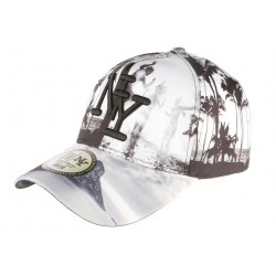 Casquette NY Grise et Noire Baseball Fashion Tropical Night
