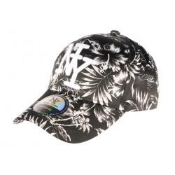 Casquette ny noire et blanche Tropical Baseball Fashion