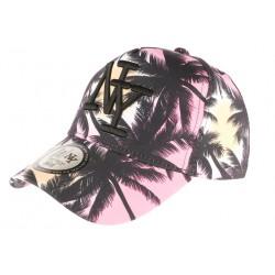 Casquette NY Rose et Noire Baseball Fashion Tropical