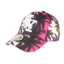 Casquette NY Rouge et Noire Baseball Fashion Tropical CASQUETTES Hip Hop Honour
