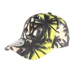 Casquette NY Jaune et Noire Baseball Fashion Tropical
