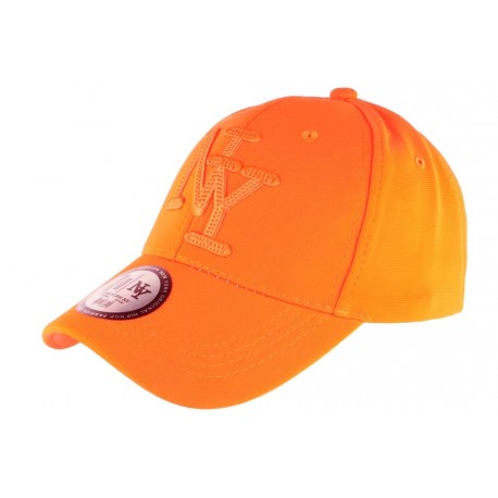 Casquette NY Orange Fluo Flashy Baseball Gwyz CASQUETTES Hip Hop Honour