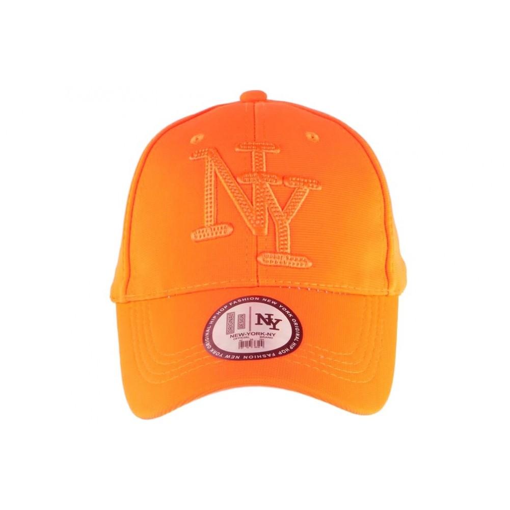 homme coût modéré magasiner pour les plus récents Acheter Casquette NY Orange Fluo, casquette baseball fashion ...